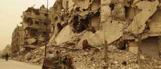 Altomfattende ødelæggelser i Aleppo, der engang var Syriens største by.