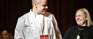 Michael Munk og Mette Derdau, da de modtog deres Michelin-stjerne.