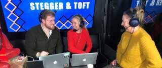 Line Eriksen fra Tebstrup var med i programmet 'Stegger og Toft', hvor værterne forinden havde gennemgået Lines nyhedsfeed på hendes Facebookprofil og sammensat programmet ud fra den.