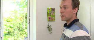 Morten Fenger opdagede det høje radon-niveau i børneværelset ved hjælp af en radon-måler.