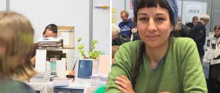 I år kan man på BogForum møde nogle af de mange mindre forlag, som er kommet til inden for de senere år. Shekufe Tadayoni Heiberg (th.) og hendes forlag Uro er et af dem.