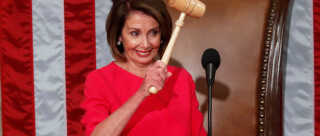 Nancy Pelosi har atter fået hammeren, der tilhører formanden for Repræsentanternes Hus.