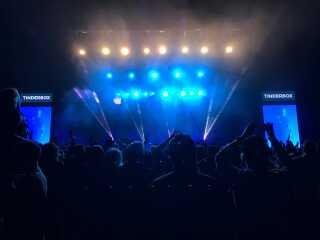 Stemningsbillede fra Pet Shop Boys koncerten til Tinderbox Festival 2017.