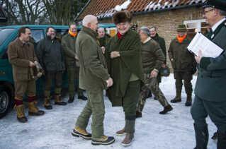 Prins Henrik og Kjeld Hillingsø har flere gange været på jagt sammen. (arkivfoto)