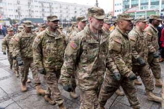 Amerikanske soldater udstationeret i Polen.