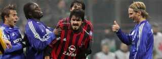 Gennaro Gattuso fors?ger at f? lov til at fejre sejren, men Schalkes Rafinha, Gerald Asamoah og Christian Poulsen vil have ham v?k.