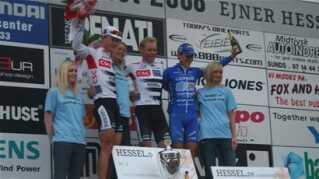 Michael Blaudzun vandt foran Jonas Aaen og Matti Breschel.