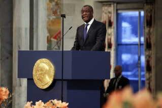 Den congolesiske læge Denis Mukwege fortalte bl.a. en meget stærk historie om en 18 måneder gammel pige, der havde fået ødelagt sin urinblære, underliv og endetarm efter en voldtægt.