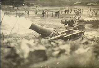 Tung fransk mortér-kanon under slaget ved verdun.