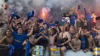 Brøndbys fans lavede masser af larm hele kampen igennem.