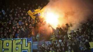 Brøndby-fans under kampen mod Randers