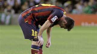 """Brugerne på dr.dk/sporten har """"skubbet"""" Lionel Messi ud på bænken."""
