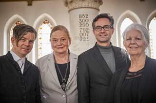 Redaktionsgruppen bag Kirkesangbogen: Henrik Marstal, Inge Marstal Rasmus Nøjgaard og Helene Dam.