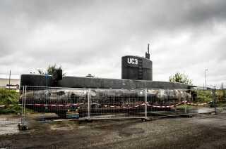 Peter Madsen's hjemmelavede ubåd UC3 Nautilus.
