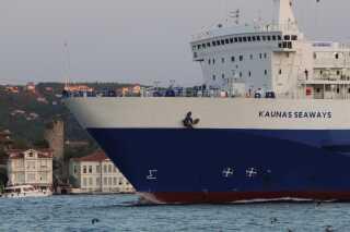 Der er plads til cirka 200 passagerer på den danskejede DFDS-færge Kaunas Seaways, som sejler mellem Tyrkiet og Ukraine.