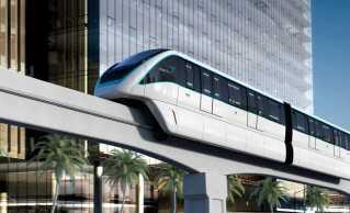 Riyadhs nye monorail-bane.