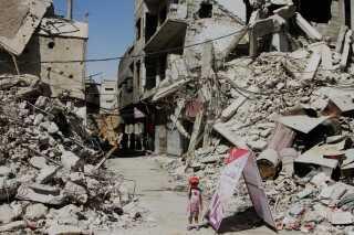 Bomber har nærmest pulveriseret store dele af det østlige Ghouta.
