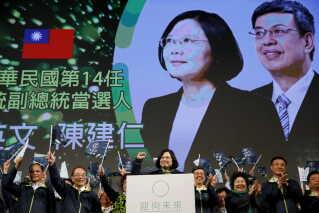 Den Kina-kritiske præsident Tsai Ing-wen var leder Taiwans største oppositionsparti DPP, før hun i 2016 blev Taiwans første kvindelige præsident.