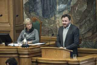 Socialdemokraterne - her integrationsordfører Dan Jørgensen - lægger stemmer til regeringens asylstramninger.