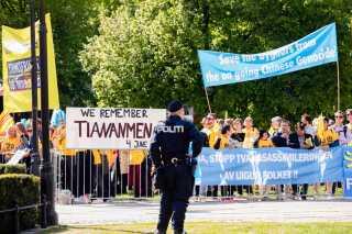De kritiske røster blev holdt på behørig afstand i Oslo i dag.