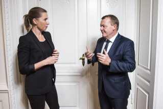 Statsminister Lars Løkke Rasmussen (V) og Mette Frederiksen (S)