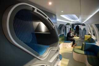 Designerne bag det tyske Idétog vil lave vogne med små sove-kabiner.