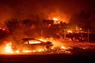 USA: Skovbrande i Californien. Skader: 59-85 milliarder kroner. Skovbranden Camp Fire i november var den dødeligste og mest ødelæggende i Californiens historie. 86 personer blev dræbt og over 18.000 bygninger blev ødelagt.