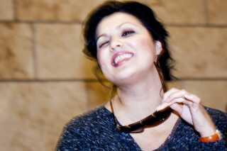 Anna Netrebko har også besøgt Danmark. Her er hun på Det Kgl. Teater i forbindelse med hendes optræden i La Boheme i 2010.