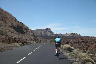 Fuglsang bevæger sig op og ned ad bjerget ved vulkanen Teide.