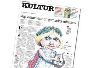 Pia Kjærsgaard på forsiden af Politikens kultursektion i 2009
