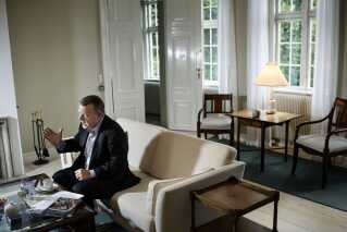 Statsminister Lars Løkke Rasmussen (V) bor ikke på Marienborg, men bruger blandt andet boligen til at holde møder.