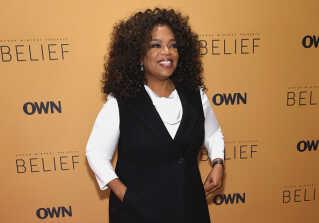 Oprah Winfrey ved premieren for 'Belief'. Serien blev sendt på Discovery Channel i mere end 220 lande og territorier.