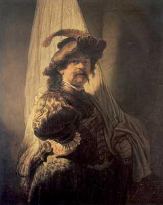 'Fanebæreren' af Rembrandt. Malet i 1636.
