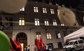 Dag efter dag er mediernes opmærksomhed rettet mod Forligsinstitutionen i København. Det er her, det afgøres om overenskomstforhandlingerne ender i forlig eller forlis. (foto: Martin Sylvest/Scanpix Ritzau 2018)