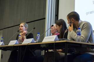Fra højre: Jacob Mchangama, Tara Skadegaard Thorsen, Kirsten Ketscher og Julie Weile.