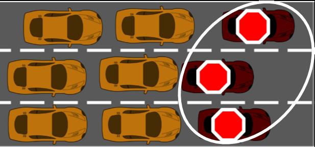 Det er situationer som denne, hvor hackede biler blokerer vejen, som forskernes model udregner hyppigheden af.