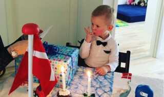 Sander, da han fyldte to år i lørdags.