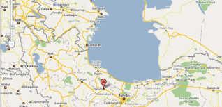 Flyet styrtede ned nær byen Qazvin i det nordvestlige Iran.