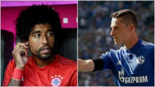 Julian Draxler (th.) er sommerens næstdyreste transfer i Tyskland. Dante er et andet af Wolfsburgs nyindkøb.