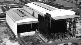 B&W-hallerne stod færdige i begyndelsen af 60'erne.