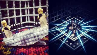 Årets russiske og svenske deltagere, som de ser ud i Lego.