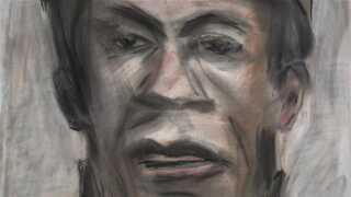 Portræt af lavet af multikunstneren Bob Dylan.