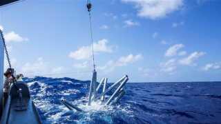 Her forsvinder stjernen i Stillehavet.