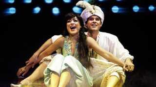 I 2012 kunne man se Fredericia Teaters version af Disneys Aladdin med Maria Lucia og Johannes Nymark i hovedrollerne som Jasmin og Aladdin.