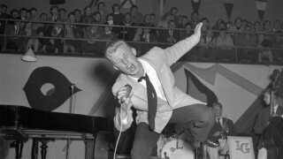 Ib Jensen til rockbraget i KB-Hallen i 1956.