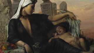 Et af de malerier, som Stans Museum for Kunst har lagt ud til fri download og brug. Elisabeth Jerichau Baumann, En egyptisk fellahkvinde med sit barn, 1872. smk.dk