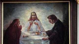 Emil Noldes 'Middag i Emmaus' malet i 1904.
