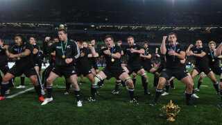 Favorit-vartegnet som nyt nationalflag er en hvid sølvbregne på sort baggrund. Den bruges allerede af New Zealands verdensberømte rugbylandshold The All Blacks. Her ses de under en Maori-dans (haka) efter sejren i VM-finalen i 2011.