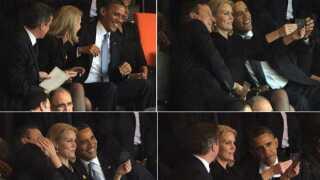 Barack Obama, Helle Thorning Schmidt, David Cameron, Roberto Schmidt, Soweto, Nelson Mandela