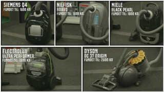 Her ses de støvsugere, der senest er blevet testet af Forbrugerrådet Tænk.